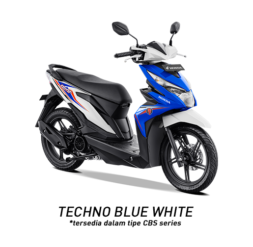 Honda BeAT 2019 Tipe CBS Techno Blue White