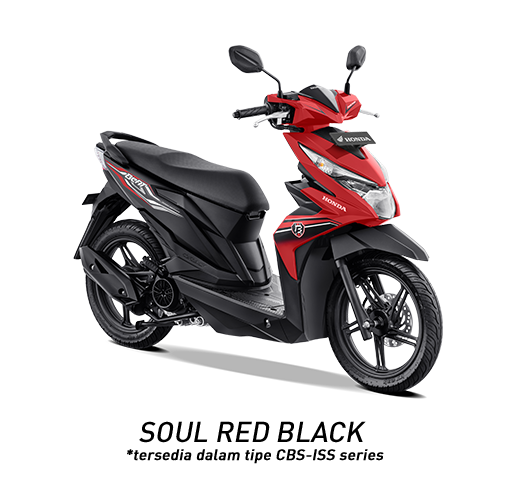 Honda BeAT 2019 Tipe CBS-ISS Soul Red Black