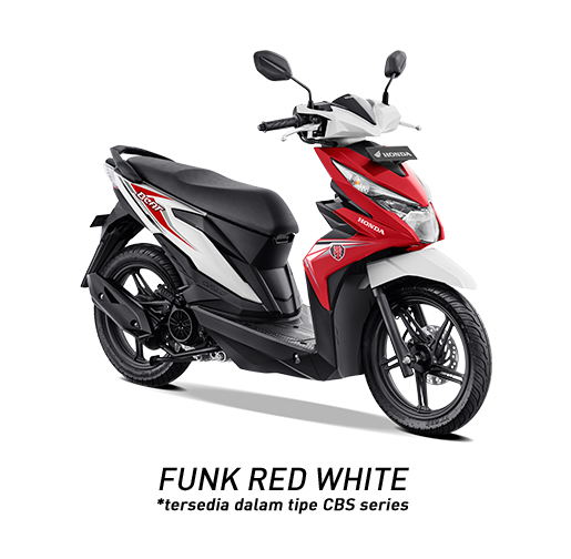 Honda BeAT 2019 Tipe CBS Funk Red White